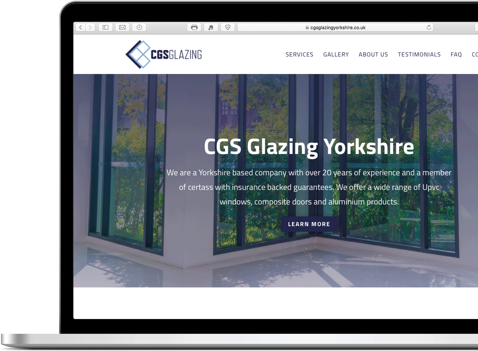 web design cgs glazing yorkshire